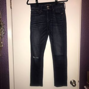 EXPRESS ripped blue jeans